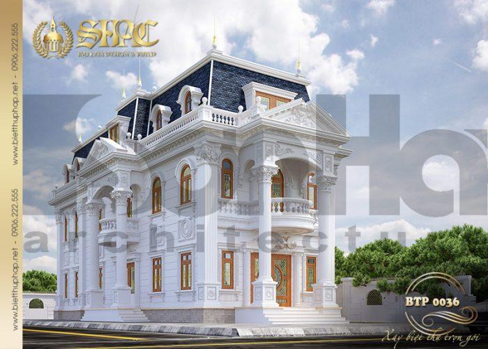 Kiến trúc biệt thự phong cách cổ điển diện tích 10,3×28,6m tại Cần Thơ