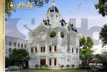 3 Mẫu thiết kế biệt thự lâu đài pháp diện tích 156m2 tại Hà Nội SH BTLD 0025