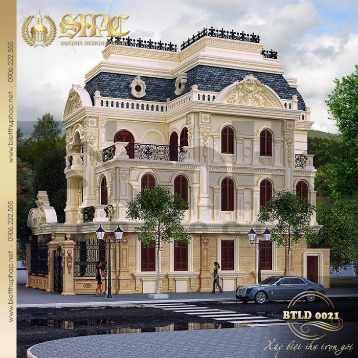 Biệt thự lâu đài cổ điển chinh phục mọi ánh nhìn bởi những chi tiết đắt gái của dòng kiến trúc châu Âu lâu đời