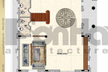 3 Mẫu thiết kế mặt bằng công năng tầng 1 lâu đài pháp tại Đà Nẵng SH BTLD 0034