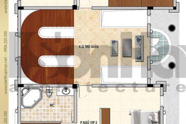3 Mẫu thiết kế mặt bằng công năng tầng 2 lâu đài pháp tại Đà Nẵng SH BTLD 0034