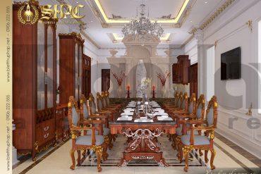 3 Thiết kế nội thất phòng bếp biệt thự lâu đài kiểu pháp tại An Giang SH BTLD 0031
