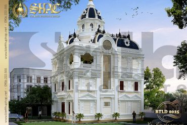 4 Mẫu biệt thự lâu đài cổ điển 3 tầng tại Hà Nội SH BTLD 0025