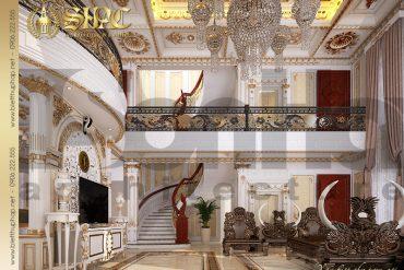 4 Mẫu nội thất phòng khách biệt thự kiểu lâu đài tại Hà Nội SH BTLD 0032