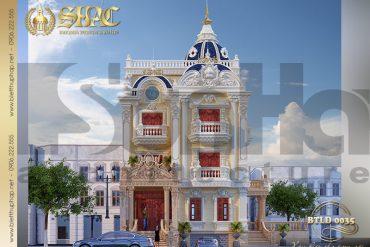 4 Mẫu thiết kế biệt thự lâu đài diện tích 141m2 tại Sài Gòn SH BTLD 0035