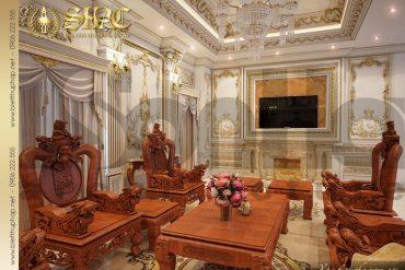 4 nội thất phòng khách biệt thự lâu đài tại Quảng Ninh SH BTLD 0029