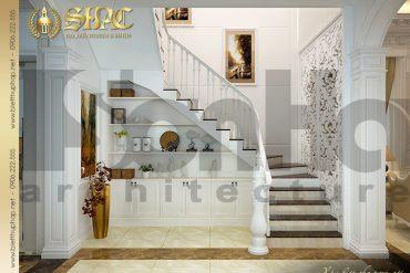 4 Thiết kế nội thất sảnh thang biệt thự lâu đài tại Trà Vinh SH BTLD 0021