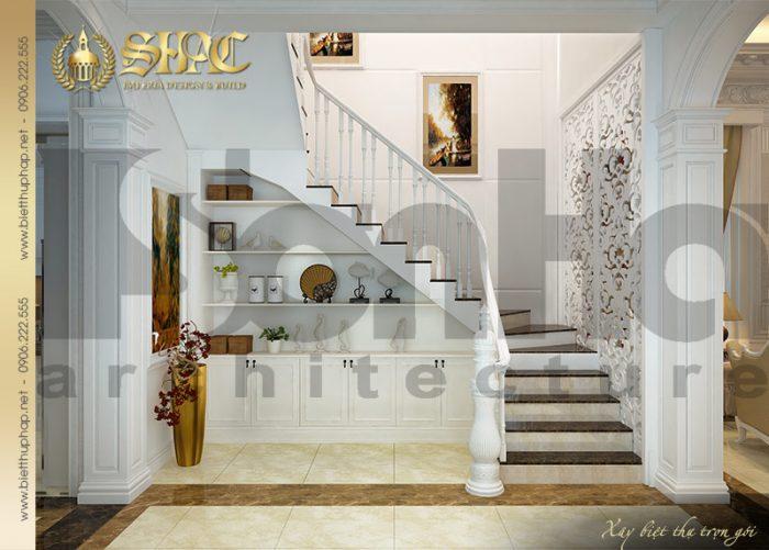 Khu vực sảnh trang được thiết kế với những chi tiết tinh tế mang đậm chất cổ điển
