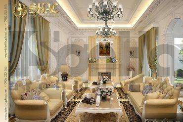 5 mẫu nội thất phòng khách sang trọng biệt thự lâu đài tại Trà Vinh SH BTLD 0021