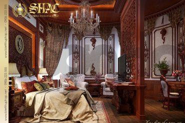5 Mẫu nội thất phòng ngủ biệt thự lâu đài pháp tại Đà Nẵng SH BTLD 0033