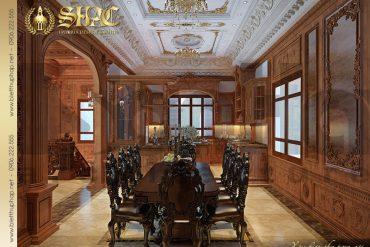 5 Mẫu thiết kế nội thất phòng bếp lâu đài đẹp tại Hà Nội SH BTLD 0026