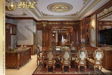5 Thiết kế nội thất phòng bếp ăn biệt thự kiểu lâu đài tại Nam Định SH BTLD 0026