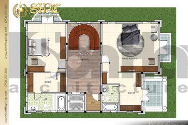 6 Bản vẽ mặt bằng công năng tầng 2 biệt thự lâu đài SH –BTLD 0035 tại Sài Gòn