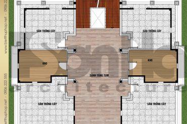 6 Bản vẽ mặt bằng công năng tầng 4 biệt thự lâu đài SH BTLD 0036 tại Hải Dương