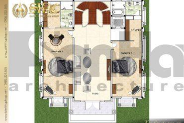 6 Chi tiết công năng tầng 3 biệt thự lâu đài tại Lạng Sơn SH BTLD 0038