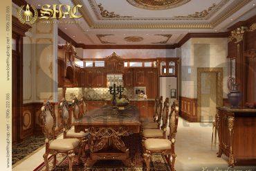 6 Mẫu nội thất phòng bếp biệt thự kiểu lâu đài tại Nam Định SH BTLD 0026