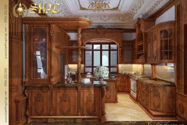 6 Mẫu thiết kế nội thất phòng bếp lâu đài đẹp tại Hà Nội SH BTLD 0026