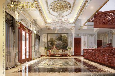 6 Mẫu thiết kế nội thất sảnh thang biệt thự lâu đài pháp tại Đà Nẵng SH BTLD 0033