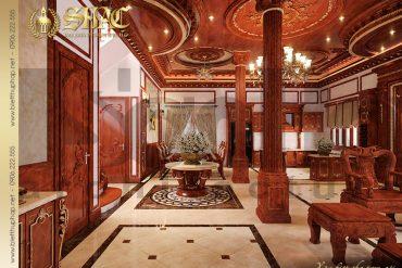 6 Nội thất phòng khách biệt thự lâu đài đẹp tại Hà Nội SH BTLD 0025