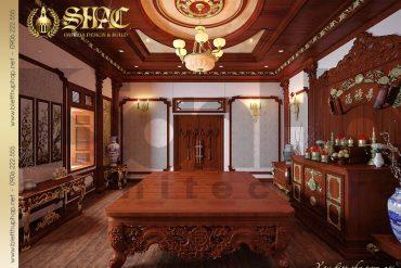 6 Thiết kế nội thất phòng thờ biệt thự cổ điển pháp SH tại Hà Nội BTLD 0024