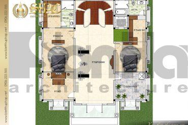 7 Bản vẽ mặt bằng công năng tầng 4 biệt thự lâu đài tại Lạng Sơn SH BTLD 0038