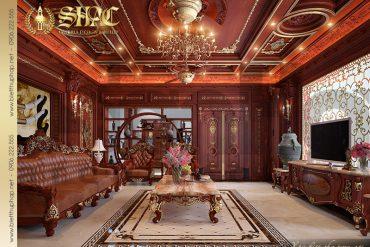 7 Mẫu nội thất phòng khách chính biệt thự cổ điển pháp tại Hà Nội SH BTLD 0024