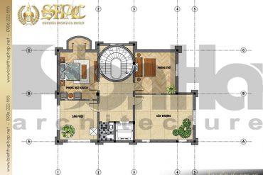 7 Mẫu thiết kế mặt bằng công năng biệt tầng 4 thự lâu đài pháp tại Sài Gòn SH BTLD 0028