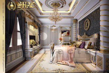 7 Mẫu thiết kế nội thất phòng ngủ biệt thự lâu đài tại Hà Nội SH BTLD 0032