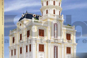 7 Thiết kế biệt thự lâu đài 3 tầng tại hải phòng sh btld 0037