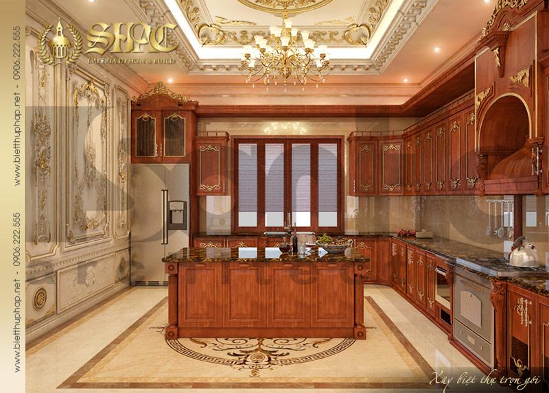 7 Thiết kế nội thất phòng bếp ăn biệt thự lâu đài tại Quảng Ninh SH BTLD 0029