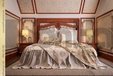 7 Thiết kế nội thất phòng ngủ 1 biệt thự kiểu lâu đài tại Nam Định SH BTLD 0026