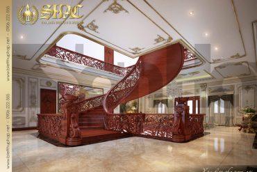 7 Thiết kế nội thất sảnh thang biệt thự lâu đài pháp tại Đà Nẵng SH BTLD 0033