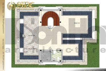 8 Bản vẽ mặt bằng công năng tầng áp mái biệt thự lâu đài SH –BTLD 0035 tại Sài Gòn