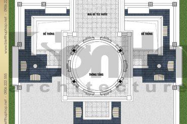 8 Bản vẽ mặt bằng công năng tầng tum biệt thự lâu đài SH BTLD 0036 tại Hải Dương