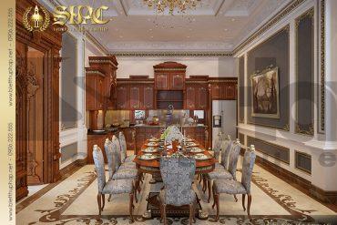 8 Mẫu nội thất phòng bếp ăn biệt thự cổ điển Pháp 3 tầng tiện nghi tại Cần Thơ SH BTP 0036