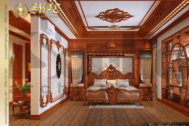 8 Mẫu nội thất phòng ngủ 1 biệt thự lâu đài cổ điển pháp tại Hà Nội SH BTLD 0024