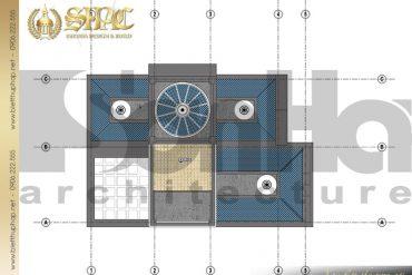 8 Mẫu thiết kế mặt bằng mái biệt thự lâu đài pháp tại Sài Gòn SH BTLD 0028