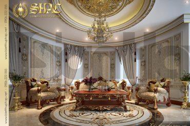 8 Mẫu thiết kế nội thất phòng sinh hoạt chung biệt thự lâu đài pháp tại Đà Nẵng SH BTLD 0033