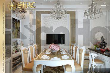 8 Thiết kế nội thất phòng bếp ăn tiện nghi biệt thự lâu đài tại Trà Vinh SH BTLD 0021