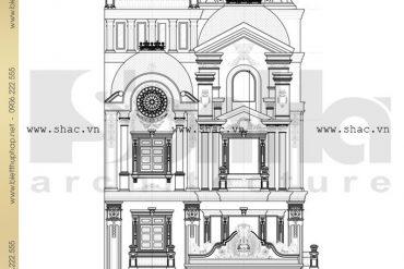 9 Bản vẽ mặt đứng biệt thự lâu đài tại Quảng Ninh SH BTLD 0020