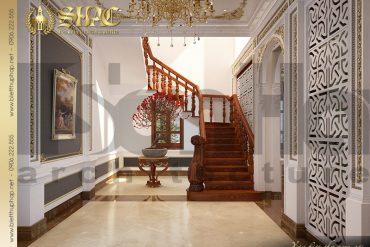 9 Phương án thiết kế sảnh thang biệt thự cổ điển pháp 3 tầng tại Cần Thơ SH BTP 0036