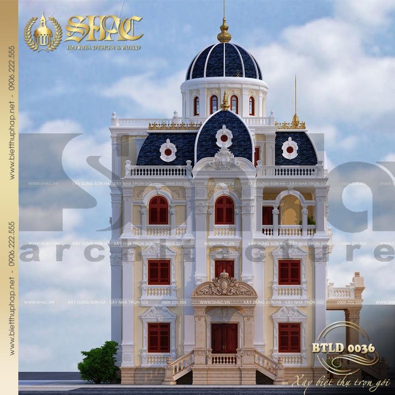9 Thiết kế biệt thự lâu đài cổ điển tại hải dương sh btld 0036