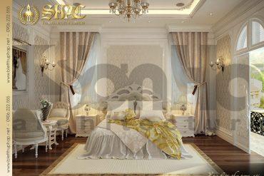 9 Thiết kế nội thất phòng ngủ biệt thự lâu đài châu âu tại Trà Vinh SH BTLD 0021