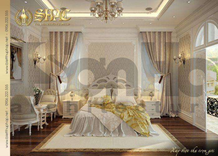 Nội thất phòng ngủ biệt thự lâu đài thiết kế đẹp, hoàn hảo đến từng chi tiết