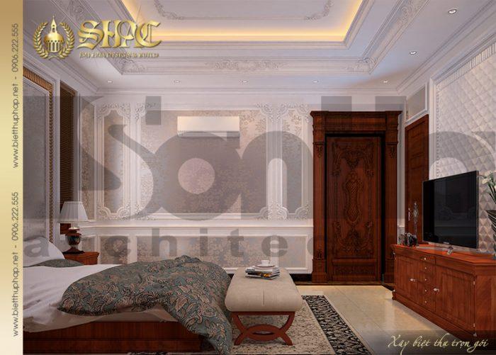 Mẫu thiết kế nội thất phòng ngủ xa hoa xứng tầm đẳng cấp biệt tự cổ điển