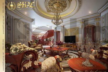 9 Thiết kế nội thất phòng sinh hoạt chung biệt thự lâu đài pháp tại Đà Nẵng SH BTLD 0033