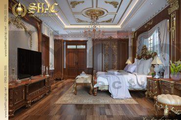 9 Thiết kế phòng ngủ biệt thự kiểu lâu đài 5 tầng tại Nam Định SH BTLD 0026