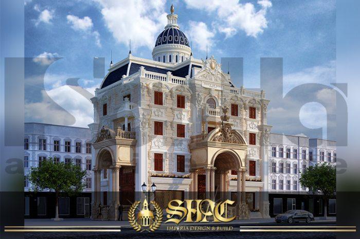 BIA Mẫu Biệt Thự Cổ Điển 4 Tầng Kiểu Pháp Sang Trọng tại Hà Nội SH BTLD 0024