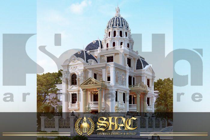 BIA Mẫu thiết kế biệt thự lâu đài pháp tại Đà Nẵng SH BTLD 0034