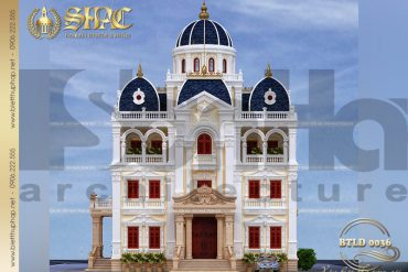 BIA Mẫu thiết kế biệt thự lâu đài tại Hải Dương SH BTLD 0036